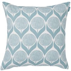 Take one talented Swedish designer, a striking print, a gentle light blue colourway, and what do you get? Spira's blooming lovely Blomma cushion that's what!  With its spring-like feel, Blomma is sure to perk up your sofa. Mix and match with the Polly and Happy designs, to name just two of its perfect pairings.  The 100% cotton Blomma cushion measures 47 x 47 cm and comes complete with a feather pad. www.husandhem.co.uk