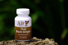 This is an Ancient Thai Natural Blood Tonic and Muscle Strengthener. We make this using a 100% Organic Low Temperature Process. Air Thai Life Thai Black Ginger is traditionally used as a Diuretics and an Anti-Flatulent, as it decreases abdominal symptoms from gastrointestinal gas. It's also used for all gum & mouth diseases and the treatment of peptic ulcers. Air Thai, Superfood Supplements, Peptic Ulcer, Detox Organics, Field Day, Diet And Nutrition, Asana, Health Remedies, Health And Beauty