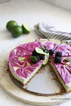 vegan key lime and blackberry pie