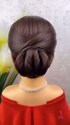Hairdo For Long Hair, Long Hair Video, Easy Hairstyles For Long Hair, Cute Hairstyles, Buns Hairstyles Tutorials, Natural Updo Hairstyles, Hair Updos For Medium Hair, Simple Elegant Hairstyles, Short Hair Ponytail