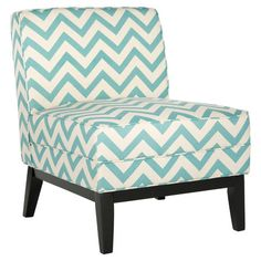 Add a pop of style to your living room or master suite with this birch-framed accent chair, showcasing an eye-catching chevron print.