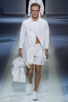 ahah nude under the trench, a great standard!  emporio armani mens s/s 14 collection #emporioarmani