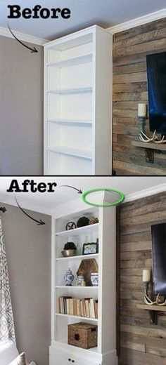 Remodel projects by adding molding