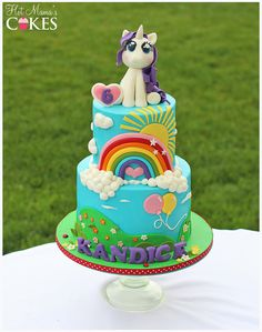 Hot Mamas Cakes specializes in custom cakes, cupcakes and sugar art for all occasions My Little Pony Cake, My Little Pony Birthday Party, Birthday Cake Girls, Cupcakes, Mlp Cake, Rainbow Dash Cake, Little Poney, Girl Cakes, Custom Cakes