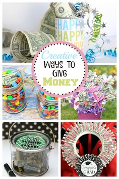Creative Ways to Give Money – Fun-Squared. Giving money doesnt need to be lame! These simple ways to give money will make the gift so much more exciting. #giftidea #gift #money
