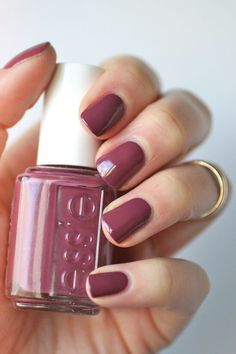 Nail Colors, Nail Polish Trends, Nail Care & At-Home Manicure Supplies by Essie. Shop nail polishes, stickers, and magnetic polishes to create your own nail art look. How To Do Nails, Fun Nails, Pretty Nails, Mauve Nails, Maroon Nails, Mauve Nail Polish, Deep Red Nails, Fall Nail Polish, Best Nail Polish