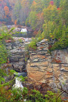 Scenic Linville Falls in North Carolina.