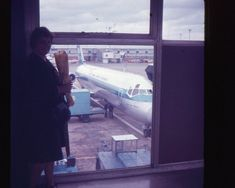 35mm Slide KLM Royal Dutch Airlines Airplane 1970