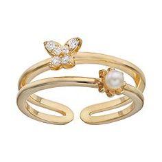 LC Lauren Conrad Butterfly & Flower Ring