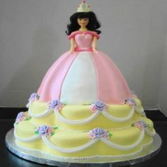 Princess Cakes – Girls Birthday Cakes for Your Daughters: Pretty Princess Cake Barbie Doll ~ Cake Inspiration Girl Shower Cake, Elephant Baby Shower Cake, Baby Shower Cakes, Birthday Cake Girls, Princess Birthday, Princess Party, Birthday Cakes, Princess Cakes, Birthday Ideas