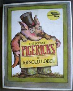 The Book Of Pigericks // 1983 Hardback w DJ // First Edition // Arnold Lobel // Parent Award Honor book // Funny Poetry about Pigs Carson Ellis, Charley Harper, Beatrix Potter, Limerick Poem, Used Books, My Books, Carmen Gil, Arnold Lobel, East Of The Sun