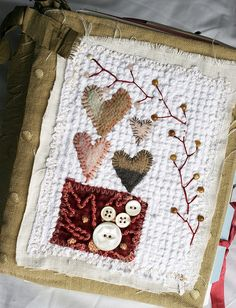 """Art Quilt Journal (4 hearts)"" by Rebecca Sower"
