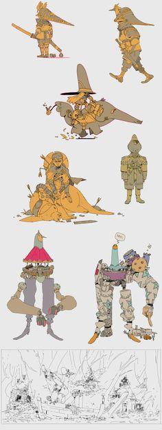 some sketches by Zedig on deviantART