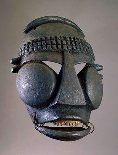 "fishstickmonkey: "" Face mask Maker: Ibibio artist Date: Early to century Medium: Wood, plant fiber, encrustation Geography: Nigeria Smithsonian National Museum of African Art "" Human Sculpture, Sculpture Art, African Masks, African Art, African Museum, Geometric Sculpture, African Sculptures, Masks Art, 3d Prints"