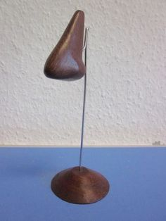 Danish modernist sculpture NOSE wood 50s  60s mid-century