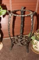 """26"""" Metal Plant Stand with Potted Plant"""