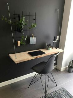 37 modern DIY computer desk ideas for your home office Jessica Paster - 37 mod . - 37 Modern DIY Computer Desk Ideas For Your Home Office Jessica Paster – 37 Modern DIY Computer De - Interior Design Photos, Office Interior Design, Home Office Decor, Office Interiors, Bedroom Office, Diy Office Desk, Small Home Office Desk, Diy Bedroom, Bedroom Ideas