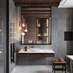 Bathroom by Olga Chernyayeva. - - - - House Decor Ideas 2019 Diy Home Decor Beautiful Bathrooms, House Design, Bathroom Design, House Bathroom, Home, Modern Bathroom, Interior, Interior Architecture, Bathroom Decor