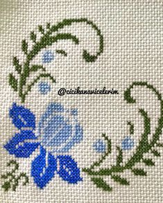 Dilek Saltuk Çetin's media content and analytics Simple Cross Stitch, Cross Stitch Borders, Cross Stitch Alphabet, Cross Stitch Flowers, Cross Stitch Designs, Cross Stitch Patterns, Ribbon Embroidery, Cross Stitch Embroidery, Embroidery Patterns