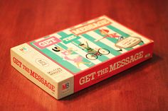 Vintage 1964 Get The Message Game By Milton Bradley HIDDEN MESSAGES