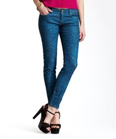 Stitchs Perry Teal Baroque Jeggings | zulily