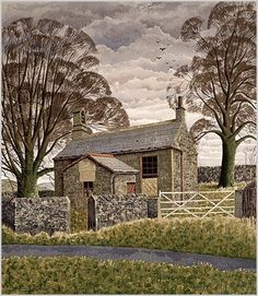Simon Palmer, School For The Clothmakers Children. Numbered and signed by the artist limited edition of image size x Print from original watercolour. Landscape Drawings, Landscape Art, Landscape Paintings, Abstract Paintings, Abstract Oil, Watercolor Landscape, Oil Paintings, Paintings I Love, Indian Paintings