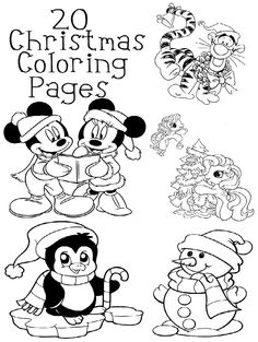 20 FREE Christmas Coloring Pages to print out