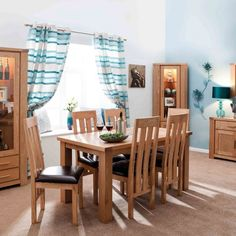 Slightly lighter tones brought with this Ash wood twin extending table and chairs. Dining Furniture, Table And Chairs, Lighter, Plum, Halo, Twin, Bring It On, Curtains, Wood