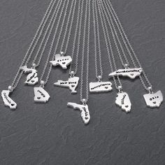 State it necklace say it on a ring and custom designs pinterest home state necklace avon aloadofball Images