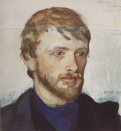 Portrait of Boris Serebryakov painted by Zinaida Serebriakova [c. 1905]