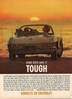 1962 #Corvette Magazine Ad - Some Guys Have It Tough