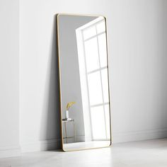 Shop modern streamline mirror from west elm. Find a wide selection of furniture and decor options that will suit your tastes, including a variety of modern streamline mirror. Mirror Wall Art, Frame Wall Decor, Frames On Wall, Wall Mirror Ideas, Art Frames, Diy Mirror, West Elm, Oversized Floor Mirror, Modern Floor Mirrors