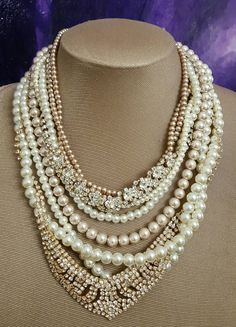 Check out this item in my Etsy shop https://www.etsy.com/ca/listing/469299752/chunky-bridal-pearl-and-rhinestone