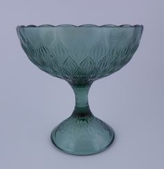 737cc178fbcf6b Ajka Magda Nemeth Amethyst Cut to Clear Crystal Pedestal Bowl ...