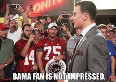 Bama Fan is Not Impressed.