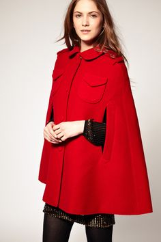Red Cape...to wear with my red boots.