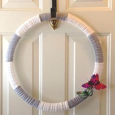 the easiest wreath i ever made took about 5 minutes supplies wire wreath form burlap ribbon black ribbon a couple accent flowers floral wi - Wire Wreath Frame Hobby Lobby