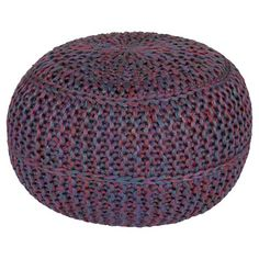 "Kylie Knotted Sphere Pouf 20"" x 20"" x 14"""