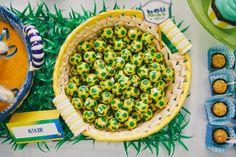 Aniversário 1 ano bebê com o tema Copa do Mundo do Brasil worldcup party theme brazil