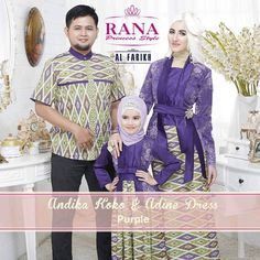 Adine Dress gamis kebaya pesta modern Purple Blue