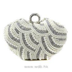 Diamond Ring Pearl Clutch Handbag $39.96