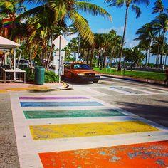 マイアミビーチ!  #miami #miamibeach #travel #instatravel #usa #trip #beach #rainbow #florida