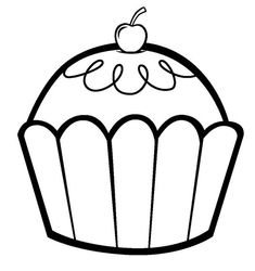 Print Out Happy Birthday Muffin Cupcake Coloring Pages Fargelegge Tegninger Activities Worksheets Clipart Color Games Online