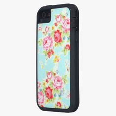 Awesome! This Vintage floral roses blue shabby rose pattern iPhone 5 case is completely customizable and ready to be personalized or purchased as is. It's a perfect gift for you or your friends.