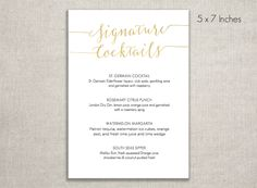 Printable Dinner Menu  Bon Appetit Menu  Instant Digital