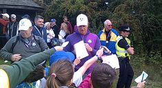 Heinrik Stenson being mobbed by autograph hunters at a Practice day at The Ryder Cup 2014 | LTR Golf Trips