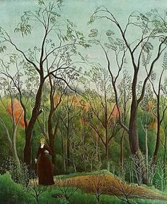 Giclee Print: The Walk in the Forest Art Print by Henri Rousseau by Henri Rousseau : Henri Rousseau Paintings, Painting Prints, Art Prints, Forest Art, Post Impressionism, Art Moderne, Naive Art, Outsider Art, French Artists