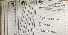 Utah Voter Claims Fraud