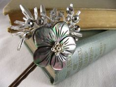 Black Mother of Pearl Bobby Pins by ForbesAndLevy on Etsy, $32.00