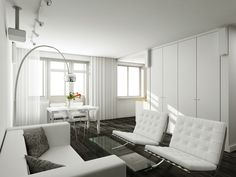Nice Curtain Style Ideas For Contemporary And Modern Living Room White Curtains
